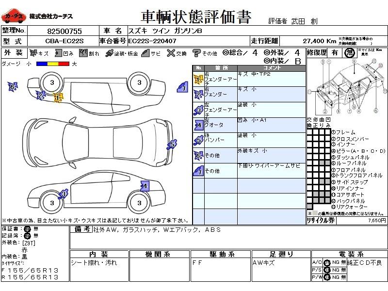 Used 2005 AT Suzuki Twin CBA-EC22S Image[3]