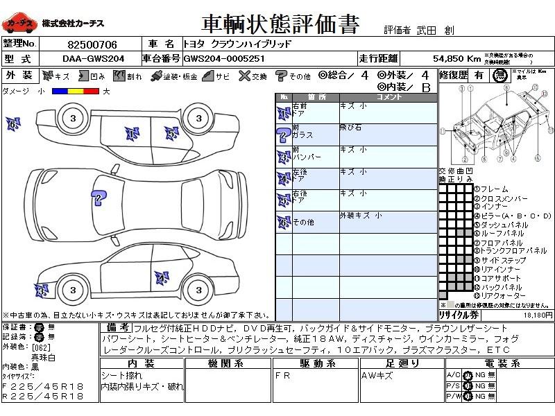 Used 2008 CVT Toyota Crown Hybrid DAA-GWS204 Image[3]