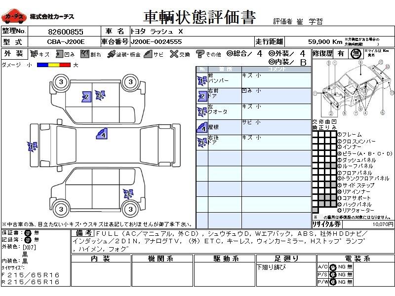 Used 2008 AT Toyota Rush CBA-J200E Image[3]