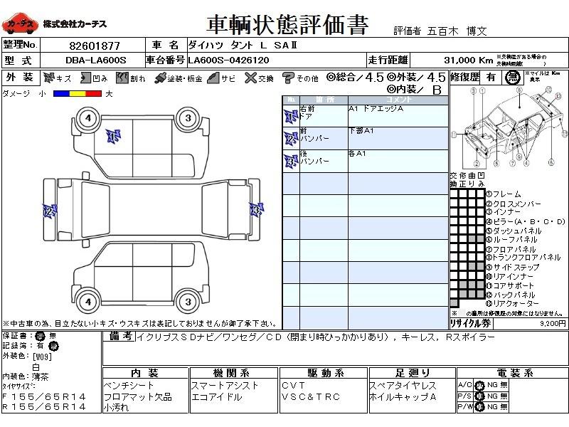 Used 2016 CVT Daihatsu Tanto DBA-LA600S Image[3]