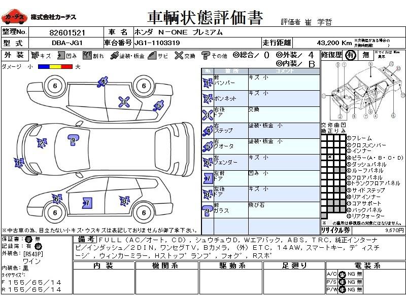 Used 2014 CVT Honda N-ONE DBA-JG1 Image[3]
