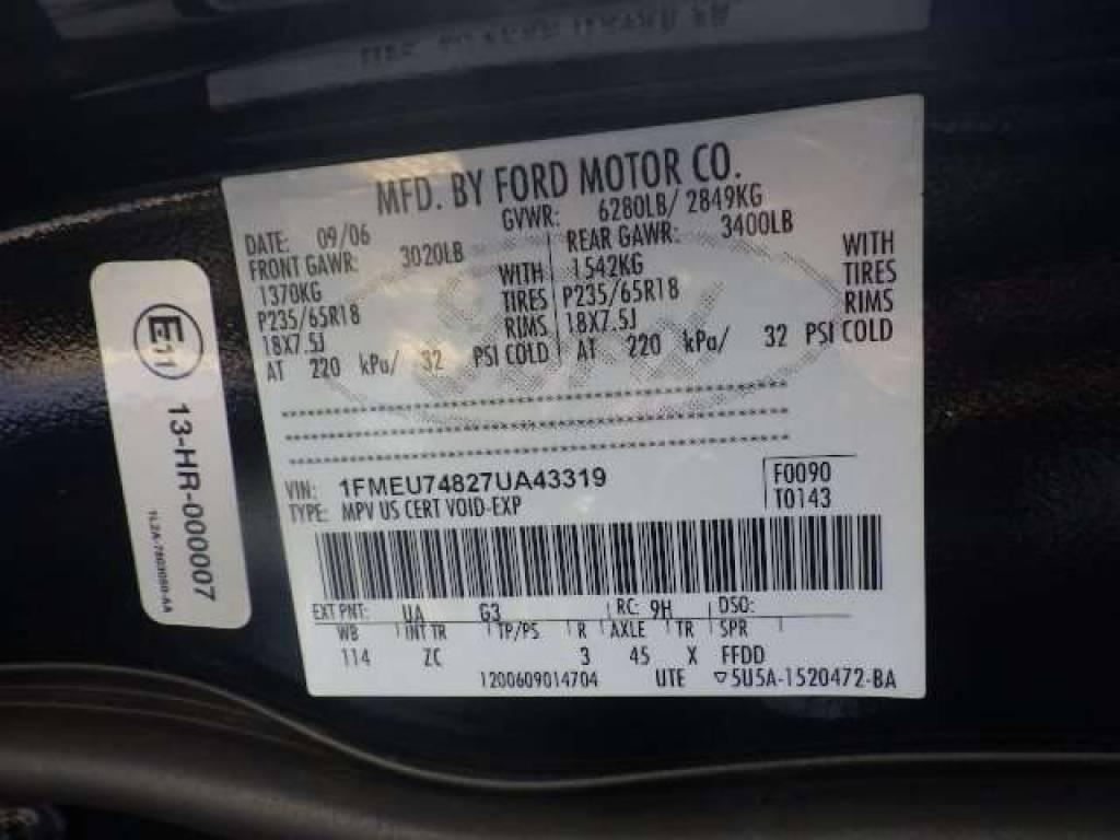Used 2007 AT Ford Explorer 1FMWU74 Image[7]