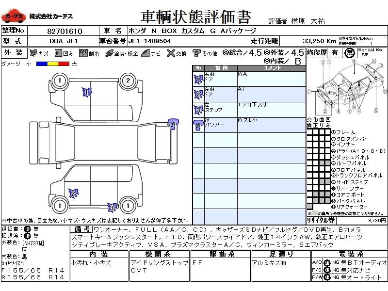 Used 2014 CVT Honda N BOX DBA-JF1 Image[3]