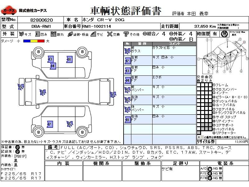 Used 2012 AT Honda CR-V DBA-RM1 Image[3]