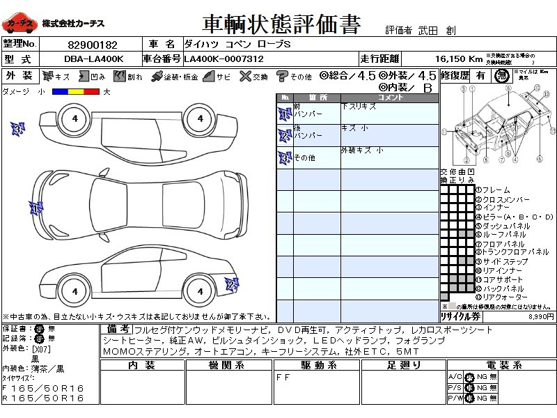 Used 2015 MT Daihatsu Copen DBA-LA400K Image[3]