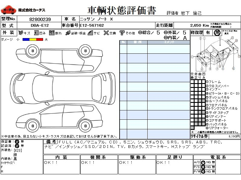 Used 2017 AT Nissan Note DBA-E12 Image[3]
