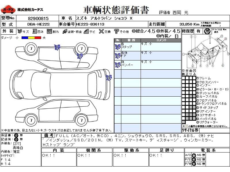 Used 2014 AT Suzuki ALTO Lapin DBA-HE22S Image[3]