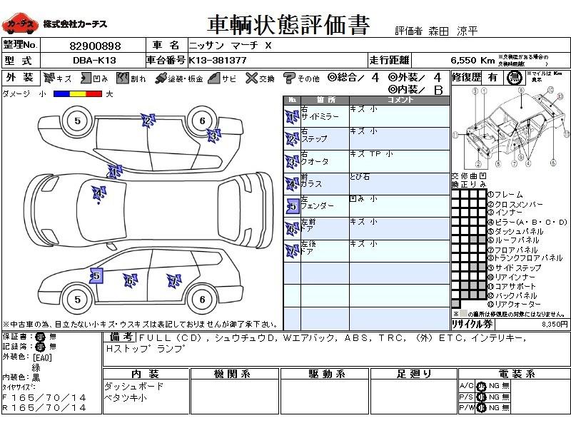 Used 2015 CVT Nissan March DBA-K13 Image[3]
