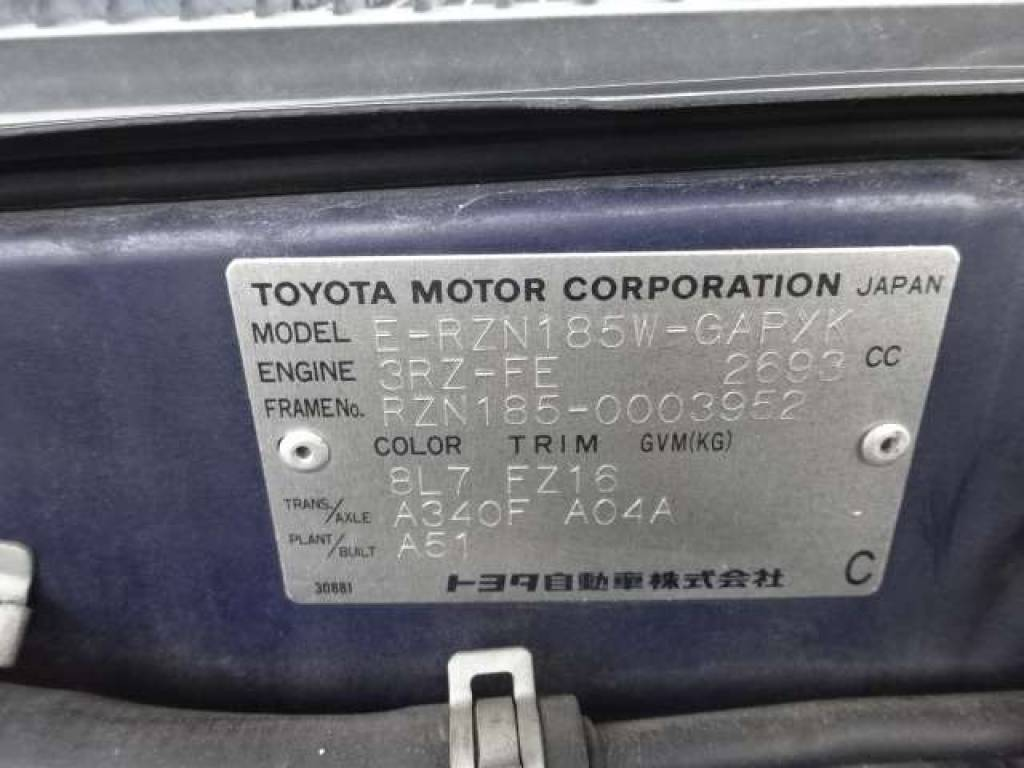 Used 1996 AT Toyota Hilux Surf RZN185 Image[6]