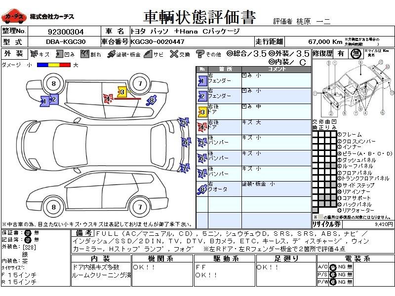 Used 2010 CVT Toyota Passo DBA-KGC30 Image[3]