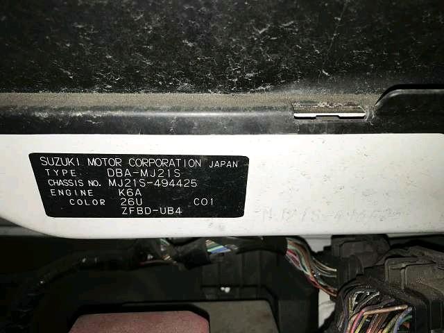 Used 2006 AT Mazda AZ-Wagon DBA-MJ21S Image[9]