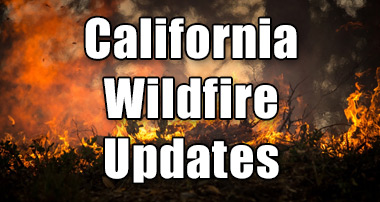 UPDATE: California Wildfire Affected Areas