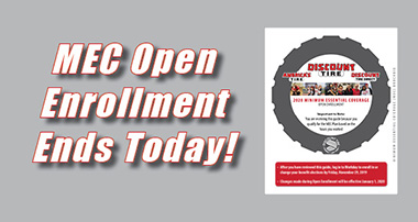 MEC Open Enrollment Ends Today!