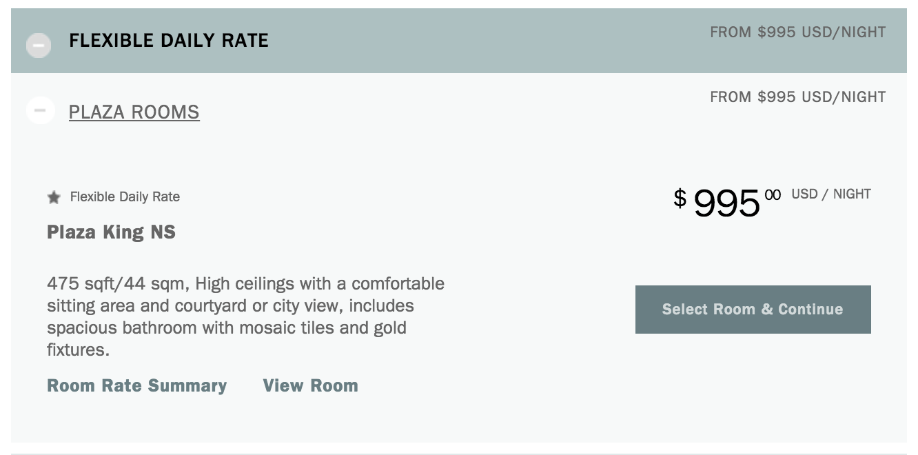 The Plaza New York Flexible Rate