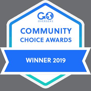 go overseas community choice award