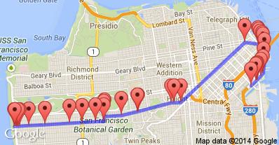 Muni Metro Stop Judah Th In San Francisco Us Light Rail - Us muni map