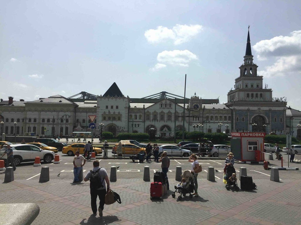 Moskva-Tovarnaya-Oktyabrskaya, stantsiya MZhD, Komsomolskaya pl., 1 а, Moskva, Russia, 107140