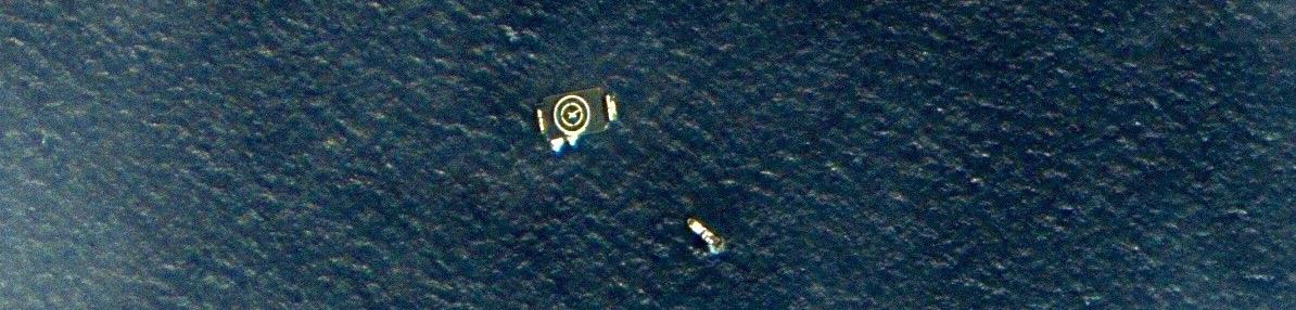 SpaceX Barge Captured by UrtheCast's Deimos-2 Satellite