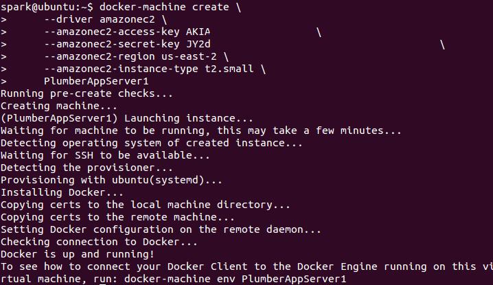 Docker-Machine Create