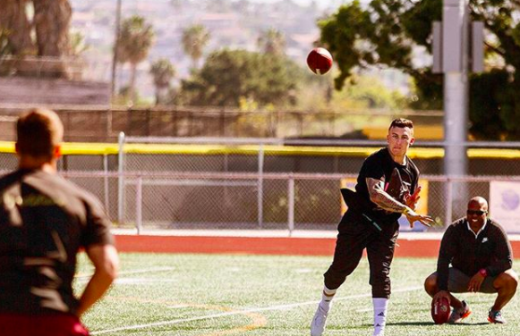 Johnny Manziel and Odell Beckham Work Out During Super Bowl Week at ... 14f79b519