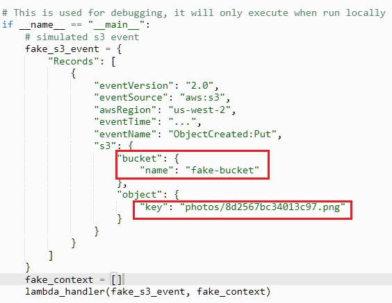 create an AWS Lambda function to make the application a distributed
