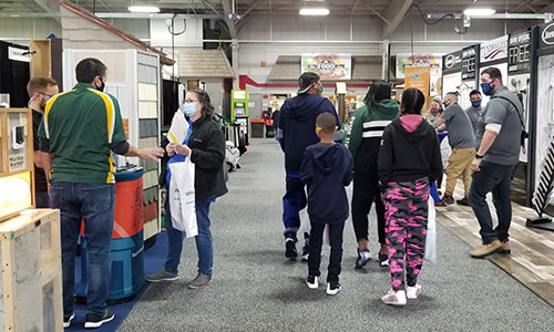 NARI Milwaukee Home Show Masks Family