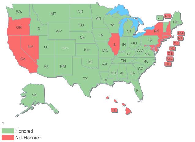 Kansas CCW Map