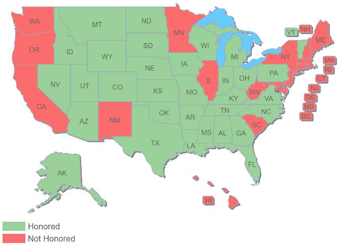 Montana CCW Map