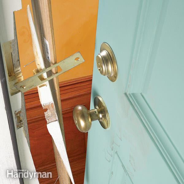 Fix Broken Exterior Door Jamb How to repair a broken door jamb