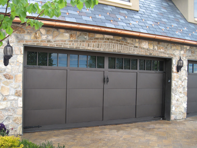 garage door with windows security risk