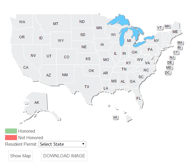 Concealed Carry Permit Reciprocity Map Builder Concealed Carry Inc - Us concealed carry reciprocity map