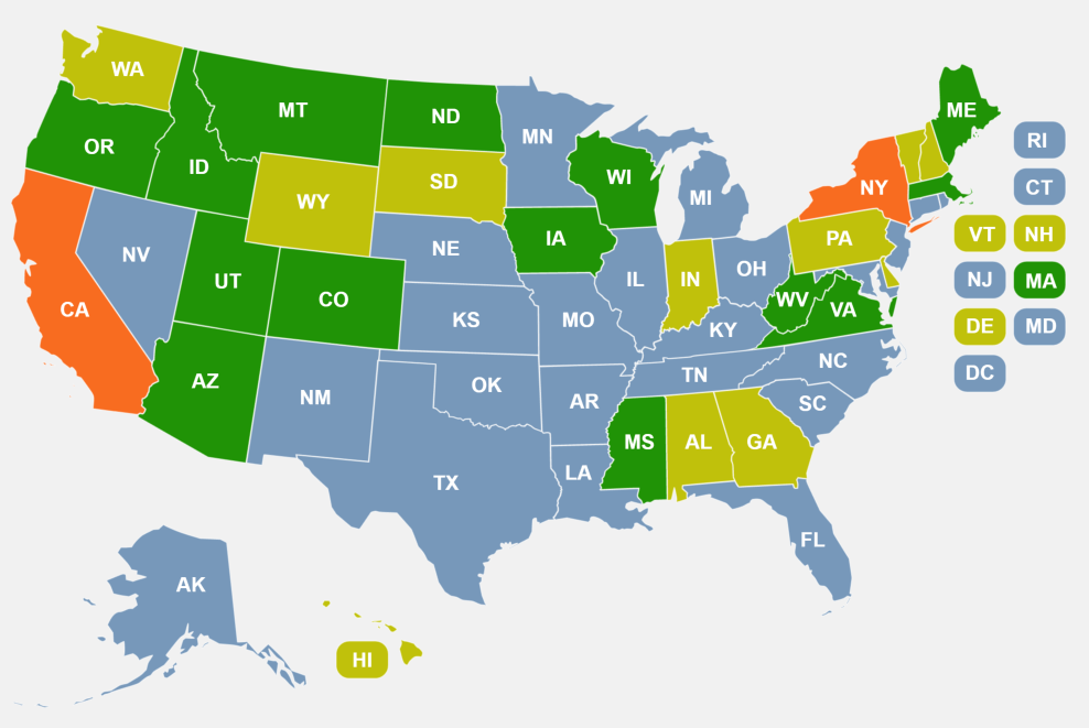 States that require firearm training for permit