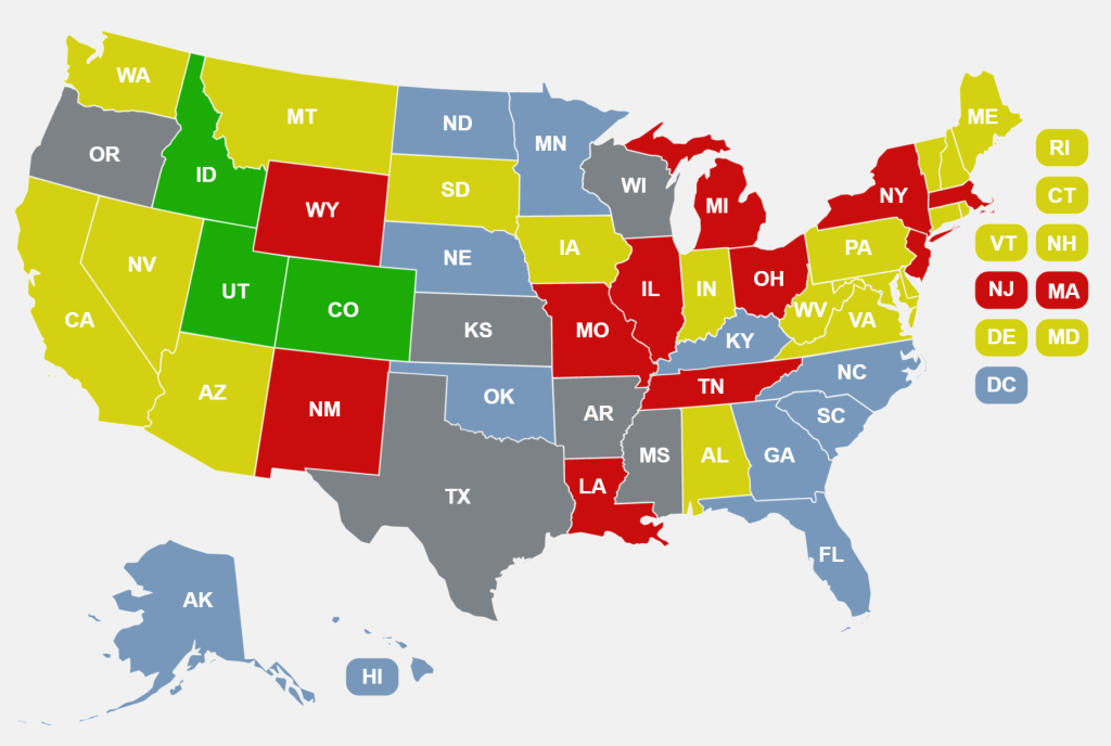 States That Allow Campus Carry