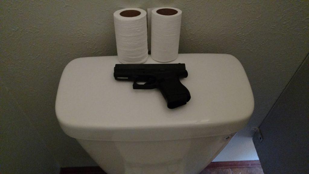 michigan guy tugging dick in wc