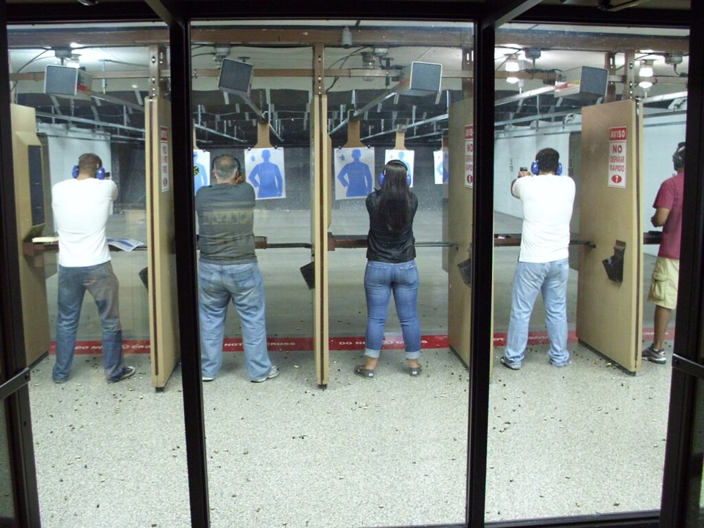 Strangers at the gun range