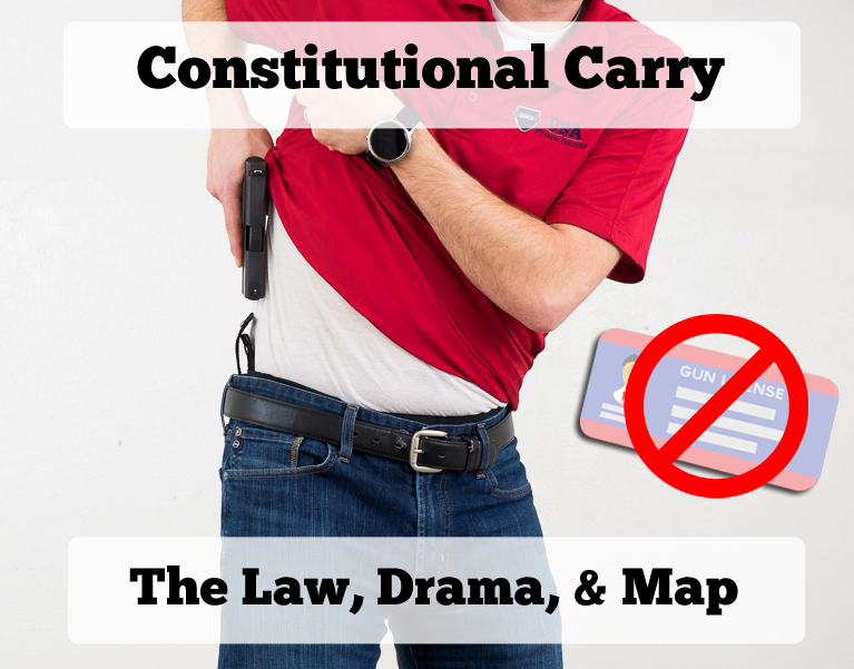 Constitutional Carry And Permitless Carry In Depth Overview - Us carry map