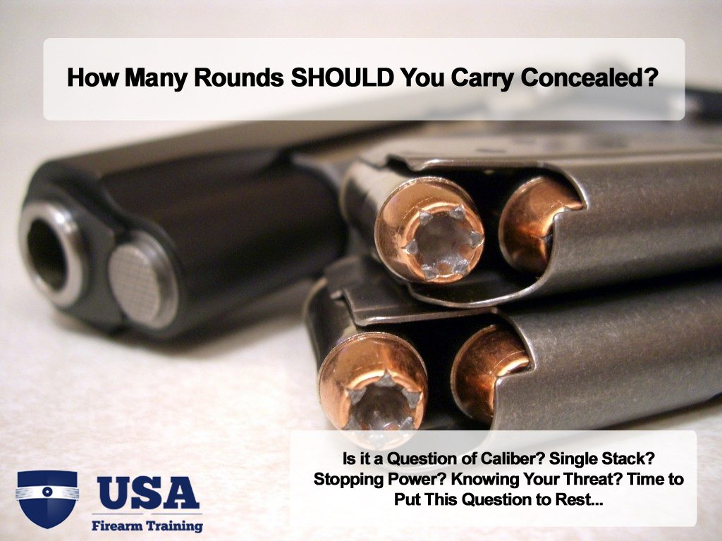 how many rounds should you carry concealed