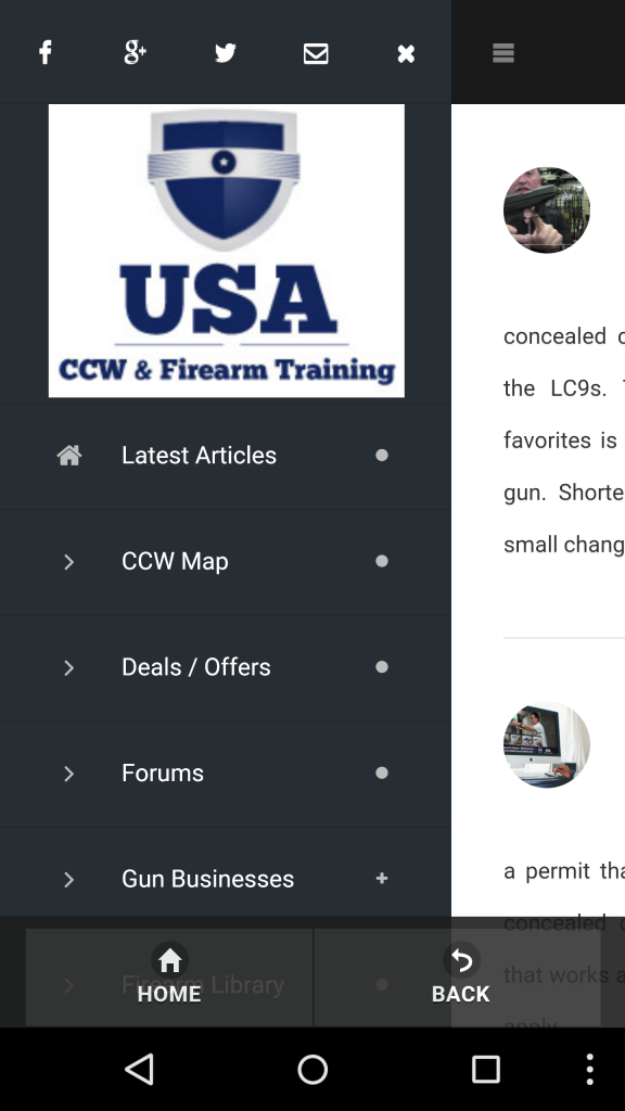 Concealed Carry Map Phone App