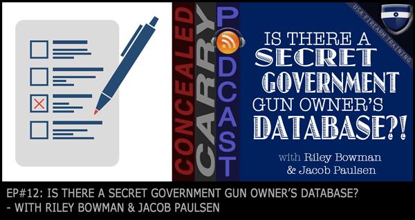 Secret Government Gun Database