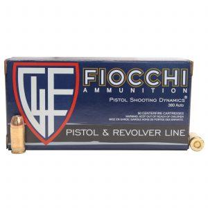 Fiocchi Ammo 380 ACP 90 Gr JHP