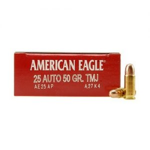 Federal Cartridge 25 Auto 50 Grain FMJ