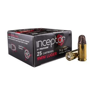Polycase Ammunition 9mm 74 Grains, ARX, Per 25