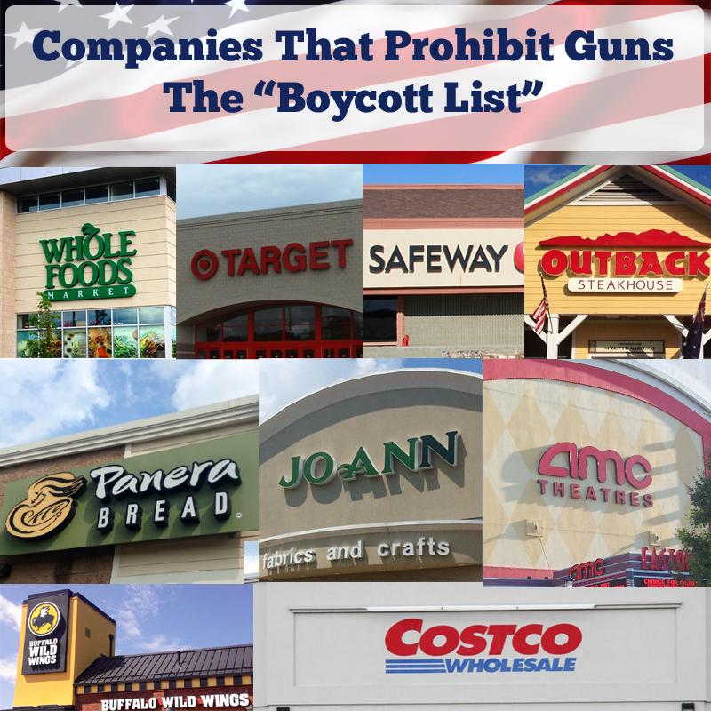 businesses that prohibit guns