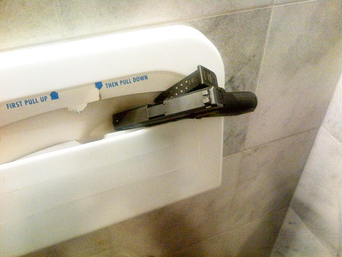 using the bathroom. gun left in bathroom Using a Bathroom With Concealed Carry Handgun  Inc