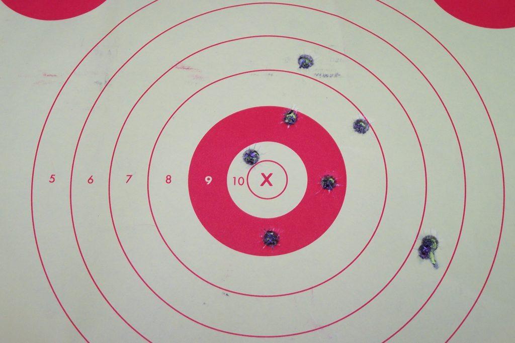 self-defense training target