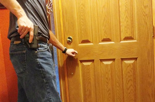 Answering the Door armed