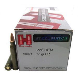 Hornady 223 Remington 55 Gr, HP Steel Match
