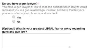 Survey Results: Gun Owner Legal Preparedness Poll
