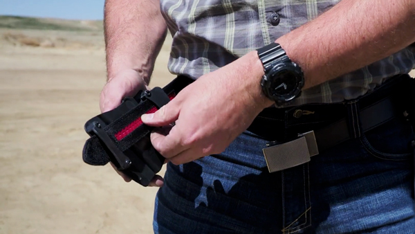 Putting on Holster on Nexbelt Tactical Series Belt