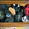 drawer full of holsters